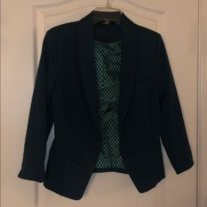 Teal 3/4 Sleeves Blazer